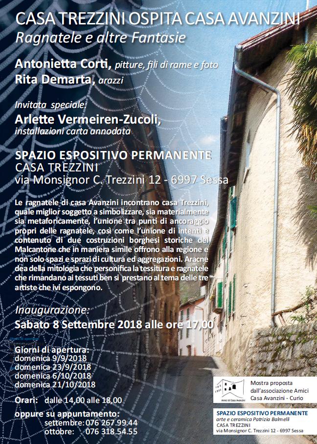 Antonietta Corti di Curio expose en Suisse du 8 septembre au 26 octobre 2018